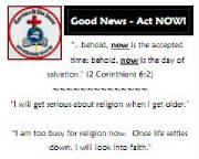 Click the photo to download a simple Gospel Tract